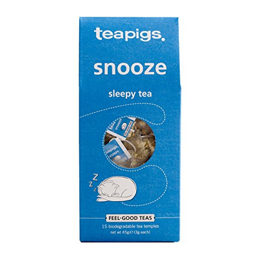 Tea Pigs Snooze Herbal Tea with Whole Herbs and Fruits, Pack of 15