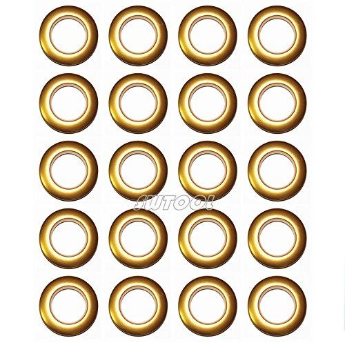 Selling Wonderful 1-9/16-Inch Inner Diameter Plastic Curtain Grommets 20-Pack (Gold)