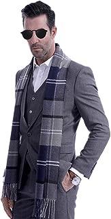 Men Business Cashmere Long Scarf Autumn Winter Warm Plaid Neck Wrap Shawl