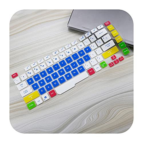 15.6 inch laptop Keyboard Cover skin For ASUS ROG STRIX G15 G512 G512LU G512LI G512LV G512LW G512 LU LI LV LW-candyblue
