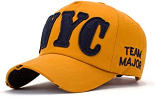QIANZICAIDIAN Hat, Spring Female Korean Baseball Cap, Sunhat, Hip Hop Men's Cap, Sun Hat, Practical (Color : Yellow)