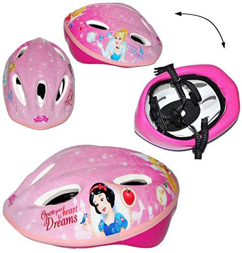 alles-meine.de GmbH Kinderhelm - Disney Prinzessin - Gr. 52 - 56 - Verstellbarer Helm - für Kinder Mädchen pink rosa Katze / Fahrradhelm Schutz - Arielle Belle Cinderella Princes