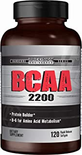 Precision Engineered BCAA 2200 120 Softgels, BCAA Metabolism, Muscle Support, Amino Acid, Rapid-Release, Gluten-Free