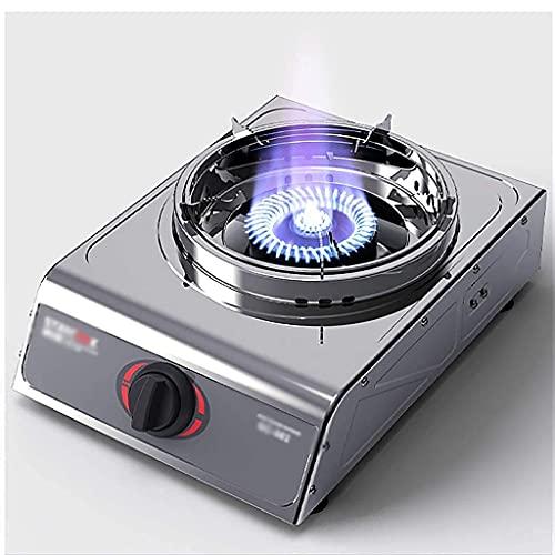Nueva cocina de gas, cocina de gas Estufa de gas Estufa de gas portátil a prueba de viento para camping Estufa de gas de un solo quemador Camping al aire libre Propano Catering LPG Doble quemador [Cla