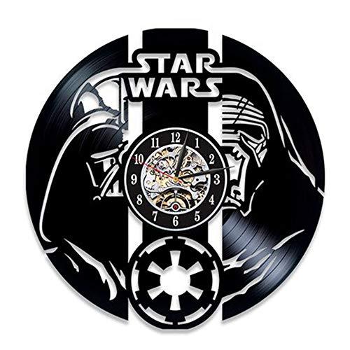 LTOOD Disco de Vinilo Reloj de Pared salón Reloj de Pared Reloj Wish Ebay, 12 Pulgadas, Estilo 15 Negro
