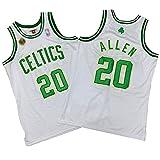 ZRBP # 20 Uniformes De Baloncesto para Hombres Allen Celtics, Uniformes De Equipo, Camisetas Deportivas Sin Mangas, Letras Y Números Personalizados Impresos Y Cosidos L