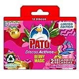 PATO Discos Activos WC Berry Magic, Limpia y Desinfecta, Pack de 2 Recambios, Estandar