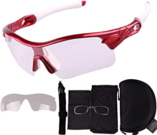 Mountain Bike Outdoor Sports Glasses Sport Eye Protective Glasses for Men and Women in Cycling Skiing Fishing Golfing Color Cycling Glasses The Sun Glasses Goggles (Color : E)
