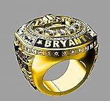 QiXian Sport Fans Collection Champion Ringe Fans Männer Memorial Ringe High-End-Kollektionen Fans Legierung Ringe Herren Accessoires Vintage-Zubehör, Gold, 9