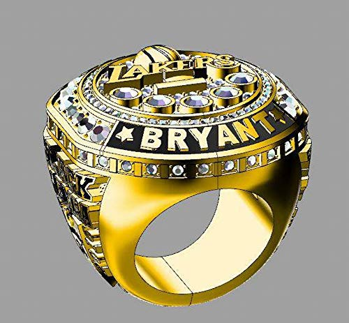 QiXian Sport Fans Collection Champion Ringe Fans Männer Memorial Ringe High-End-Kollektionen Fans Legierung Ringe Herren Accessoires Vintage-Zubehör, Gold, 11