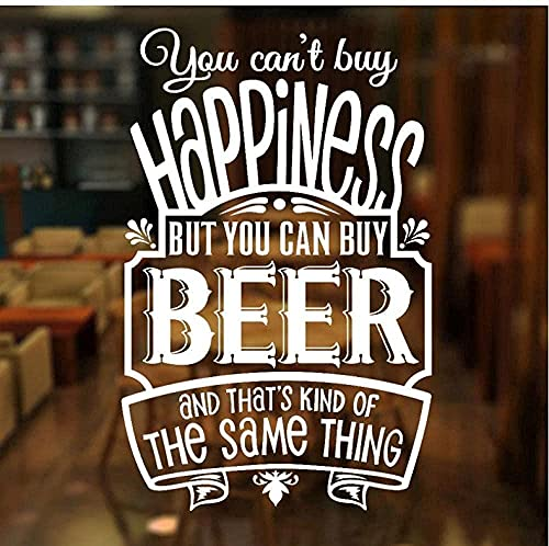 Muurstickers Mode Creatieve Muurstickers Je kunt een geluk kopen, maar je kunt kopen Bier kratten Beer bar Window Stickers 42x65cm