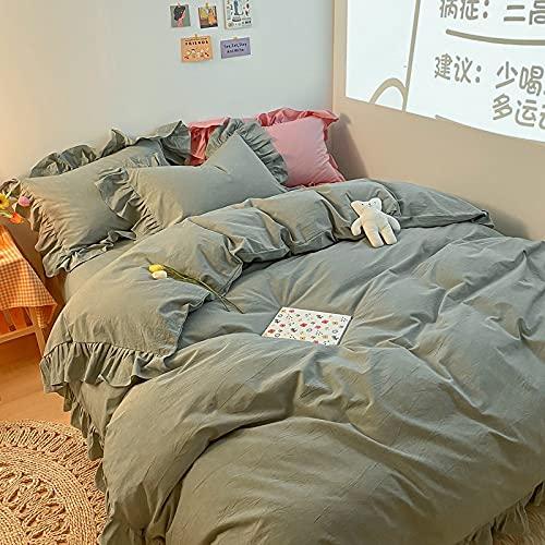 IKITOBI Sábanas de cama de 1,8 m de profundidad para cama de 4 piezas