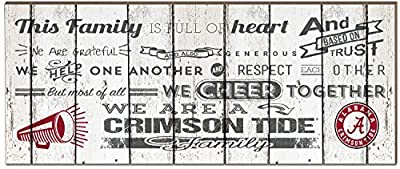 """KH Sports Fan 18"""" x 7"""" Tide Family Cheer Small Weathered Collage Plaque"""