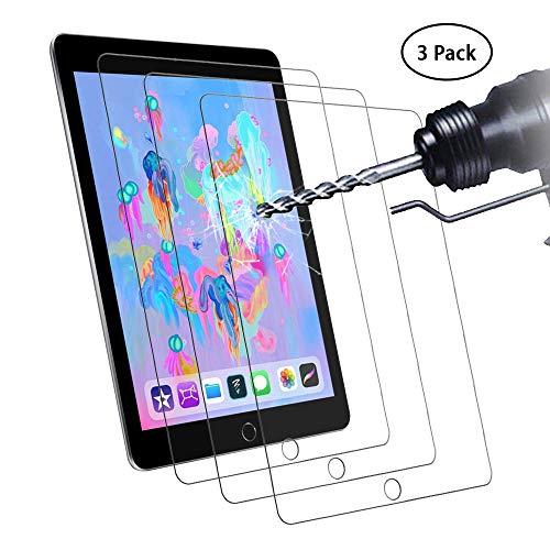 Didisky Pellicola Protettiva in Vetro Temperato per iPad 9.7 2018/2017/Air 1/Air 2/iPad PRO 9.7 da 9,7 Pollici [Tocco Morbido ] Facile da Pulire, Facile da installare, Trasparente [ 3 Pezzi ]
