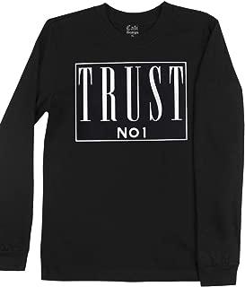 Men's Black Trust No 1 Box Logo Long Sleeve T Shirt Trust Nobody Deathrow Tee
