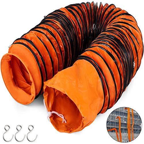 Frantools Lufttransportschlauch PVC Warmluftschlauch L/änge 7,6 M Durchmesser 203 mm Bel/üftungsschlauch