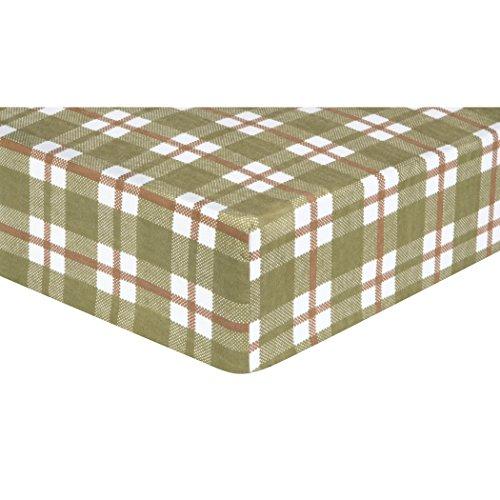 Trend Lab Deer Lodge Plaid Flanell Spannbettlaken Bettlaken für Babybett, grün