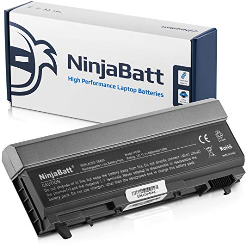 NinjaBatt 9 Cell Battery for Dell E6410 E6400 E6510 E6500 Precision PT434 M4500 4M529 W1193 M2400 M4400 MP303 PT650 MP490 312-0749 312-0748 312-0754 PP27L 1M215, High Performance [6600mAh/73wh]
