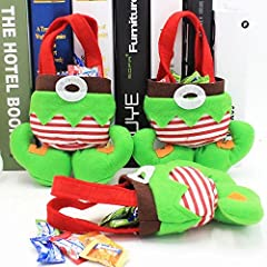 Adorable Christmas santa Elf Candy Bags,Christmas Gift And Treat Bags Carnival Christmas essential best gift bags for your children Can be filled with anything from candy to gifts.Reusable, made from felt, can be washed and air dry Great for holding ...