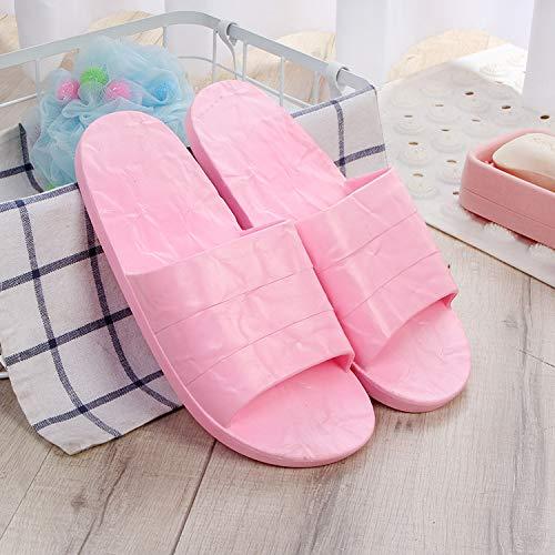 Qsy shoe Les Sandales et Les Pantoufles de Salle de Bains dans la Chambre à Coucher sont Simples et Polyvalents pour l'intérieur, Rose foncé, 44-45