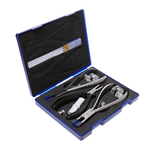 Sharplace Juego de Alicates de Reparación de Gafas Profesionales, Herramientas de Ajuste de Montura de Gafas Y Almohadilla Nasal, Alicates de Kit de Herramienta