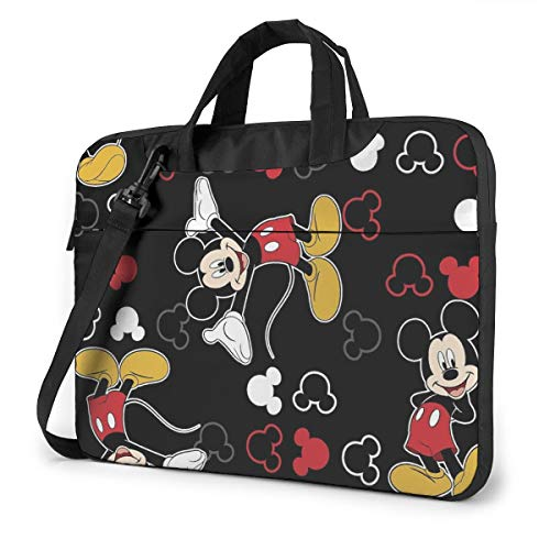 15.6 Inch Laptop Bag Mickey Mouse Black Laptop Briefcase Shoulder Messenger Bag Case Sleeve