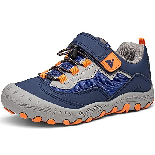 Mishansha Calzado Deportivo para Niños Ligeras Casual Zapatos de Correr Niña Zapatillas de Senderismo Antideslizante Outdoor Sneakers, Azul Marino, 33 EU