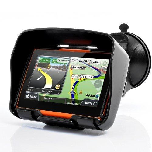 BW® All Terrain - Sistema de navegación GPS para motocicleta de 4,3 pulgadas, impermeable, memoria interna de 4 GB, Bluetooth