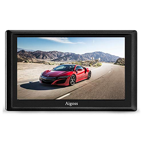 Aigoss Navigation für Auto, 5 Zoll Touchscreen 8GB GPS Navi Navigationsgerät mit POI Sprachführung Fahrspurassistent LKW PKW KFZ mit Lebenszeit Kostenlose Kartenupdates 2020 Europa Karten