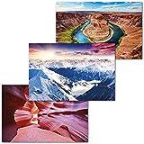 GREAT ART 3er Set XXL Poster – Berge & Schluchten –