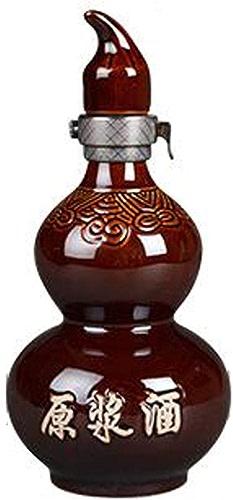 SHENGSHIHUIZHONG Bouteille de vin en céramique, gourde bouteille de 1 kg, cruche de bouchon intérieur, ensemble de vin, pot de boisson alcoolisée, canette de vin, bouteille vide de boisson alcoolisée,