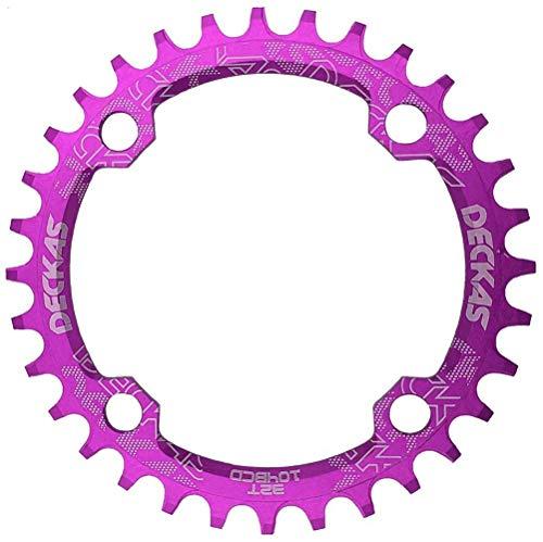 NINI Manivela Redonda para Bicicleta, 104BCD Oval Estrecho Ancho MTB Bicicleta de montaña 32T 34T 36T 38T Corona Crankset Piezas de Placa de un Solo Diente 104 BCD,1,34T
