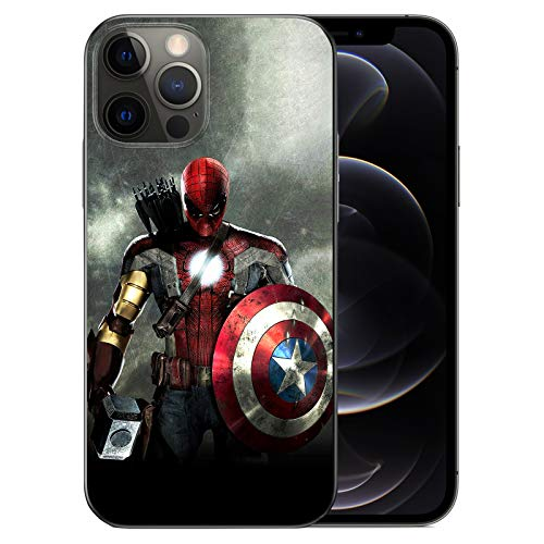 WZFT Slim Fit Case Compatible with iPhone 12 and iPhone 12 Pro 6.1 inch (2020), Comics TPU Full Body Protection Shockproof Cover (Avengers-Mix)