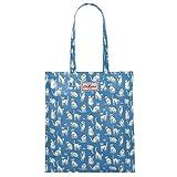 Cath Kidston Book Bag große Henkeltasche Beschichtete Baumwolle Mono Cats Mid Blue Blau mit Katzen 33 cm x 36 cm x 8 cm