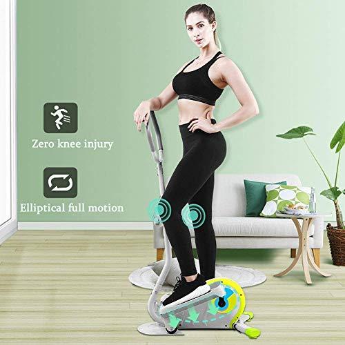 HJRBM Macchina ellittica per Stepper per la casa, Allenamento Fitness con Spin Bike con Monitor LCD, Guida silenziosa Magnetica per Esercizi di Allenamento aerobico