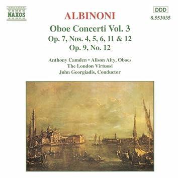 Albinoni: Oboe Concertos, Vol.  3