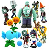 Aoluode Plants Vs Zombies Toys, 10 Piece PVZ Figures, Non-Toxic Dolls, Environmentally Friendly PVC, Garden Warfare 2 Game, Great Gift for Children and Fans(No Background)