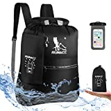 Mochila impermeable Runacc de 20 L flotante con funda impermeable para teléfono móvil. Para playa, kayak, acampada, navegación, natación, pesca o senderismo