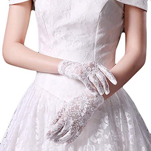 Gants de mariée mariage robes de soirée dentelle gants courts B10