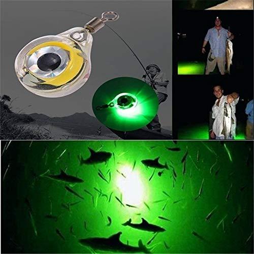DUOCACL Angelbeleuchtung - Angelköder Licht, Nacht LED Unterwasser leuchtende Angelscheinwerfer, Augenform Angelwerkzeug, um Fische anzuziehen