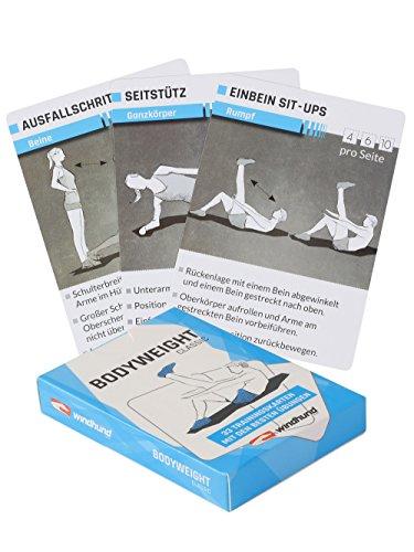 sportboXX WINDHUND Trainingskarten Bodyweight Classic - Übungen ohne Geräte