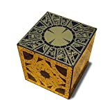 Hellraiser Puzzle Box Solid Wood Cube with Foil Face Designs Full Size Non Working Lament Configuration Pinhead Halloween Prop