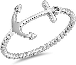 7011ad9405fd8 Amazon.com: fashion anchor - Sac Silver