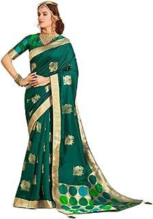 Green Wedding Party Special Traditional Soft Silk Saree Sari Blouse Muslim Women Indian Dress 9815B