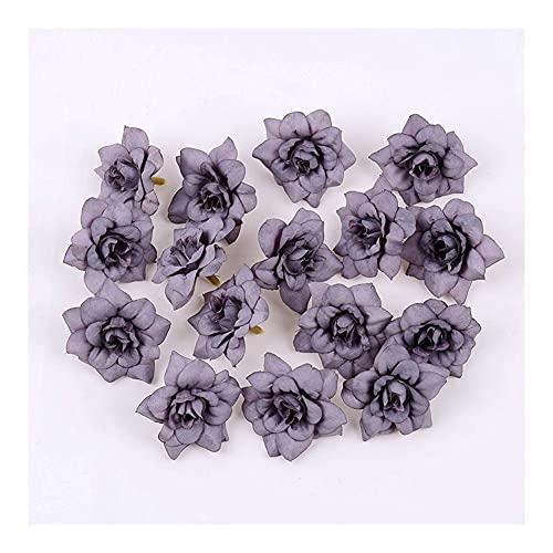 HANRUO 10 cabezales de flores de seda artificial de 4,5 cm, para pared, boda, novia, familia, Año Nuevo (color: estilo D)