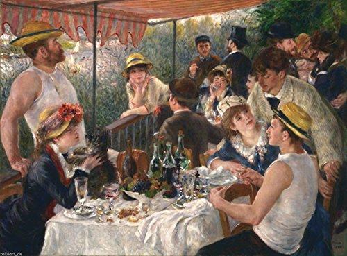 time4art Auguste Renoir Das Frühstück der Ruderer Print Canvas Bild auf Keilrahmen Leinwand Verschiedene Größen (120x80cm)