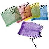 SIDCO Seifennetz Seifenbeutel 5 x Perligran Beutel für Seifenreste Seifensäckchen bunt