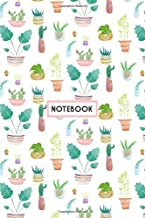 Notebook: Colorful Tropical Exotic Plants Cactus, Wide Ruled 110 pages (6.14