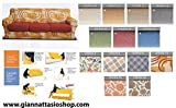 BIANCALUNA Genius 4D Copri Cuscino 2 posti per Cuscini da 110 a 160cm - Colori Fantasia Vision da comunicare