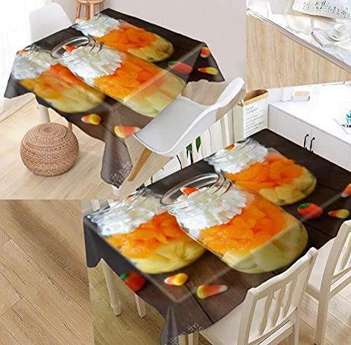 Yqgdss Postre De Colores Mantel 3D Diseño De Cocina Mesa De Comedor Mesa De Comedor Decoración De Cocina Comedor Familiar Actividades Interiores Al Aire Libre 140x220cm